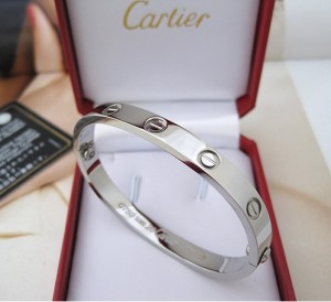 Cartier-18k White-Gold-Love-Bracelet
