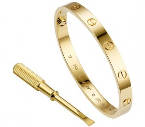 High-imitation-replica-Cartier-love-bracelet-yellow