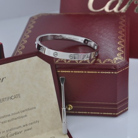 Replica cartier love bracelet plated 18k white gold