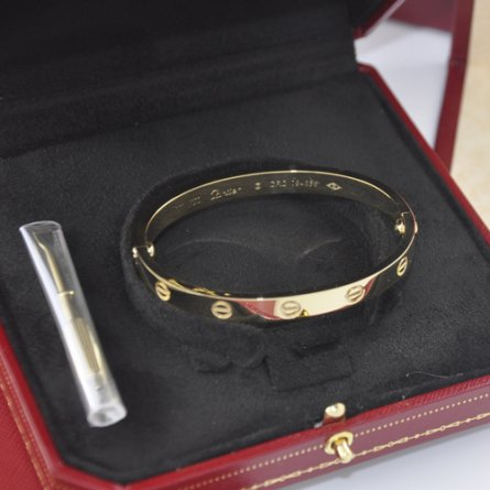 Replica cartier love bracelet plated 18k yellow gold