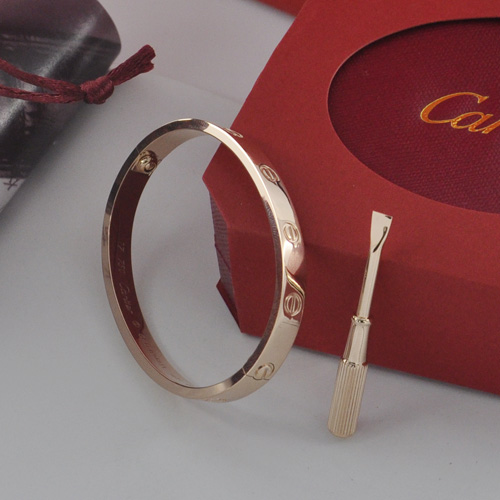 Fake cartier love bracelet plated 18k pink gold
